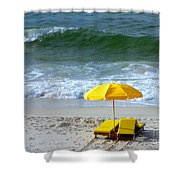 By The Sea Waiting For Me Shower Curtain