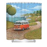 Sea Van Variant 1 Shower Curtain
