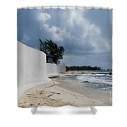 Sea Wall Shower Curtain