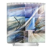 Sea Water Art Shower Curtain