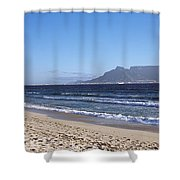 Sea With Table Mountain Shower Curtain