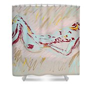 Seafoam And Violet Brown Shower Curtain