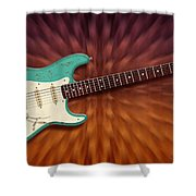 Seafoam Strat Shower Curtain