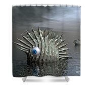 Seafood For Lunch Shower Curtain