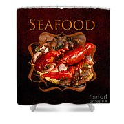 Seafood Gallery Shower Curtain