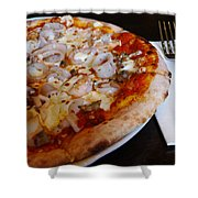 Seafood Pizza Shower Curtain