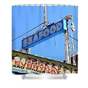 Seafood Sign Shower Curtain