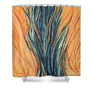 Seagrass Sold Shower Curtain