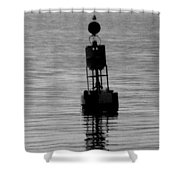 Seagull And Buoy Shower Curtain