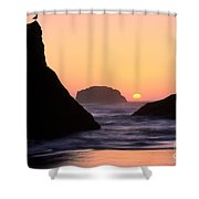 Seagull And Sunset Shower Curtain
