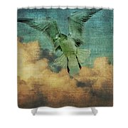 Seagull In The Clouds Shower Curtain