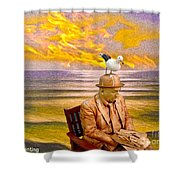Seagull Man 6 Shower Curtain