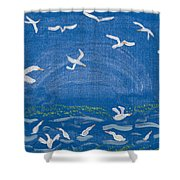 Seagulls Shower Curtain by Melissa Dawn