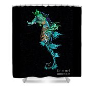 Seahorse II Underwater Ripple Shower Curtain by Lynn Jackson