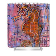 Seahorse Sandy Shower Curtain