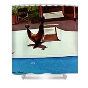 Seal And Ball Shower Curtain