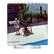 Seal And Trainer Shower Curtain