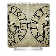 Seal Of The Knights Templar Shower Curtain