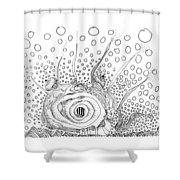 Sealife Smoooch Shower Curtain