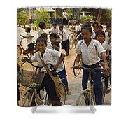Seam Reap School Children   #2646 Shower Curtain