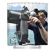 Seaman Mans The Big Eyes Aboard Shower Curtain