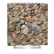 Seamless Background Gravel Stones Shower Curtain