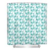 Seamless Pixel Pattern  Shower Curtain