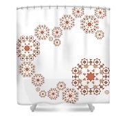Seamless Retro Pattern Shower Curtain