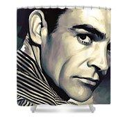 Sean Connery Artwork Shower Curtain