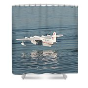 Seaplane Liftoff Shower Curtain