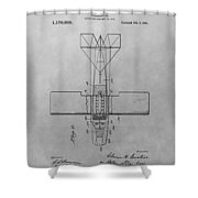 Seaplane Patent Drawing Shower Curtain