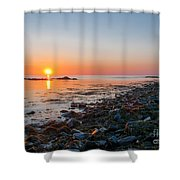 Seapoint Beach In  Kittery Point Maine Shower Curtain