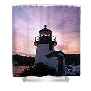 Seaport Nightlight Shower Curtain