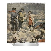 Searching For Andree, News! Shower Curtain