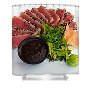 Seared Tuna With Ginger Shower Curtain