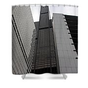 Sears Between Two Buildings Shower Curtain