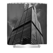 Sears Willis Tower Black And White 01 Shower Curtain