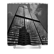 Sears Willis Tower Black And White 02 Shower Curtain
