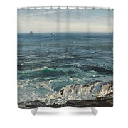Seascape 1877 Shower Curtain by Henry Moore