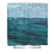 Seascape Abstract Shower Curtain