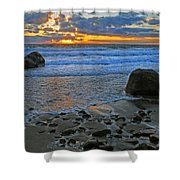 Seascape At Marthas Vineyard Shower Curtain