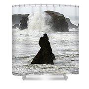 Seascape Bandon Oregon 1 Shower Curtain
