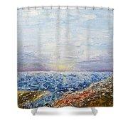 Seascape Shower Curtain by Draia Coralia