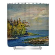 Seascape From Hamina 3 Shower Curtain