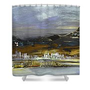 Seascape Impression In Spain 01 Shower Curtain