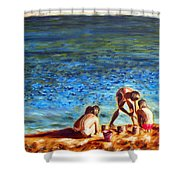 Seascape Series 3 Shower Curtain