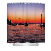 Seascape Silhouette Shower Curtain