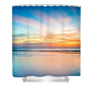 Seascape Sunset Shower Curtain by Adrian Evans