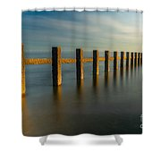 Seascape Wales Shower Curtain by Adrian Evans