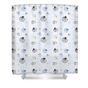 Seashell Pattern Shower Curtain